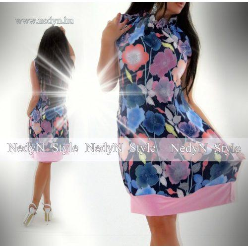 Dámske modré kvetované šaty (Dámske modré kvetované šaty)