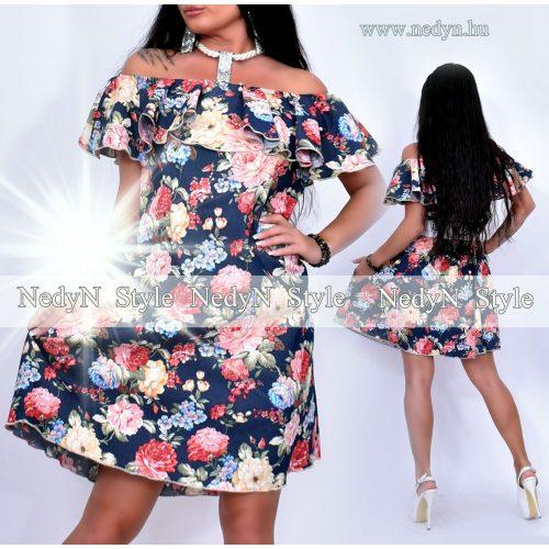 Dámske kvetované riflové šaty (Dámske kvetované riflové šaty)
