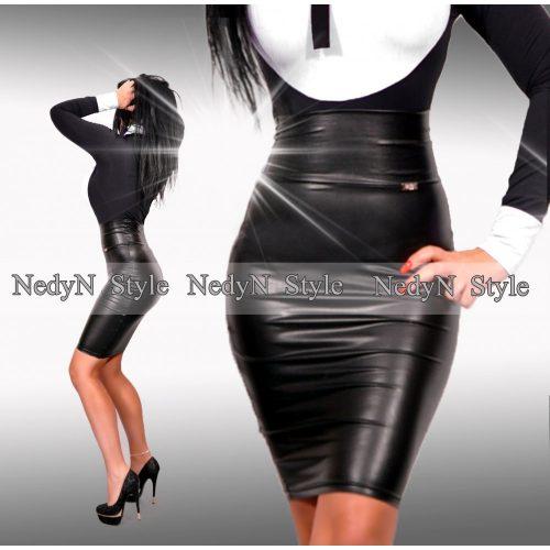 Dámska čierna koženková sukňa (Dámska čierna koženková sukňa)