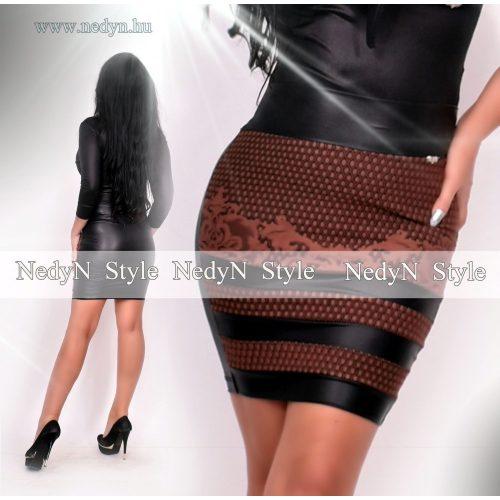 Dámska hnedo-čierna sukňa (Dámska hnedo-čierna sukňa)