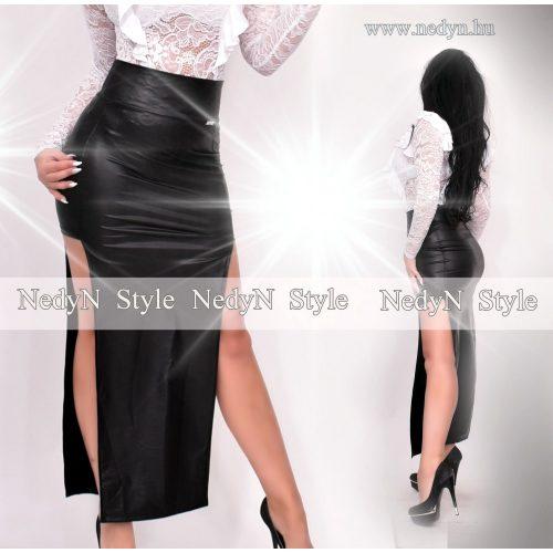 Dámska čierna predĺžená sukňa (Dámska čierna predĺžená sukňa)