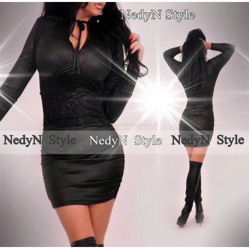 Dámske čierne lesklé šaty (Dámske čierne lesklé šaty)