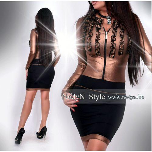 Dámske bronzovo-čierne šaty (Dámske bronzovo-čierne šaty)