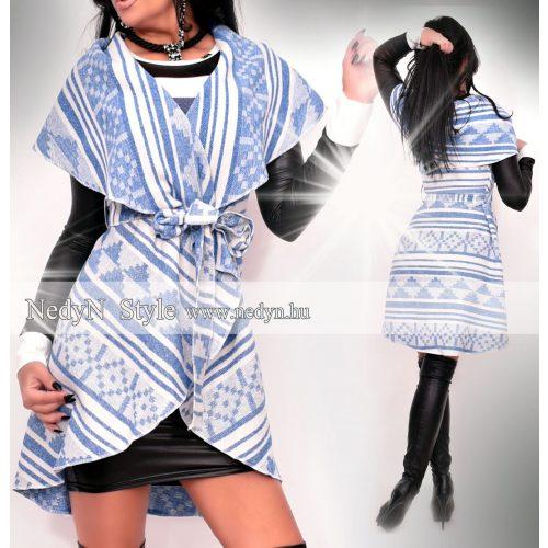 Dámska bielo-modrá vesta (Dámska bielo-modrá vesta)