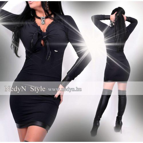 Dámske čierne šaty s viazaním (Dámske čierne šaty s viazaním)
