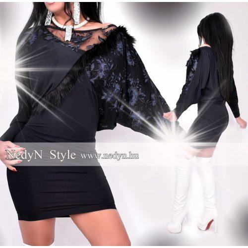 Dámske čierne šaty s čípkou (Dámske čierne šaty s čípkou)