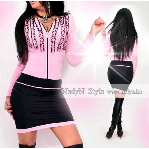 Dámske ružovo-čierne šaty (Dámske ružovo-čierne šaty)
