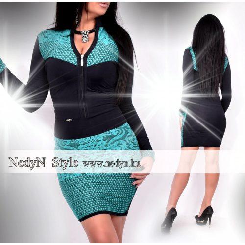 Dámske mätovo-čierne šaty (Dámske mätovo-čierne šaty)