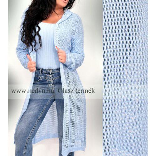 Dámsky slabo-modrý dlhý pletený sveter (Dámsky slabo-modrý dlhý pletený sveter)