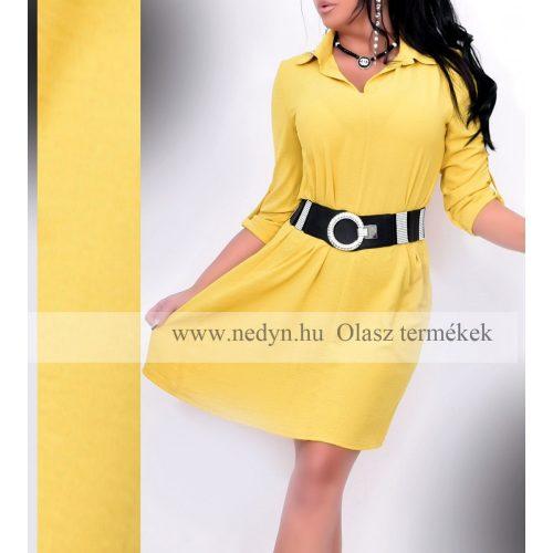 Dámske žlté košeľové šaty (Dámske žlté košeľové šaty)