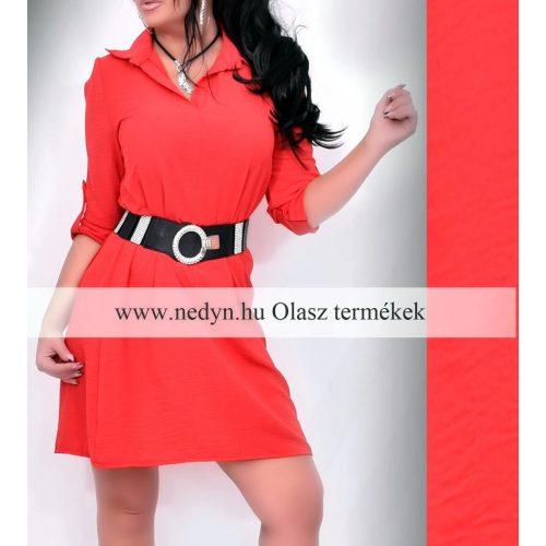 Dámske červené predĺžené košeľové šaty (Dámske červené predĺžené košeľové šaty)