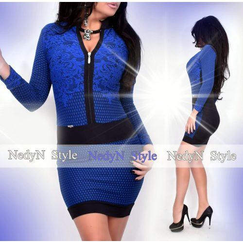 Dámske kráľovsky modré vzorované šaty (Dámske kráľovsky modré vzorované šaty )