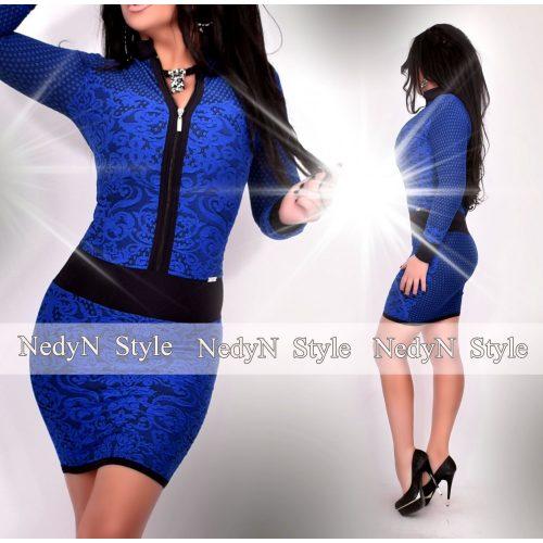 Dámske kráľovsky modré vzorované šaty (Dámske kráľovsky modré vzorované šaty)