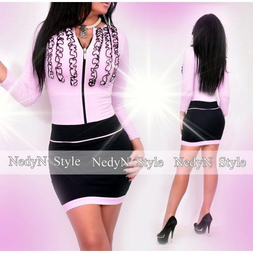 Dámske slabo-fialovo-čierne šaty (Dámske slabo-fialovo-čierne šaty)