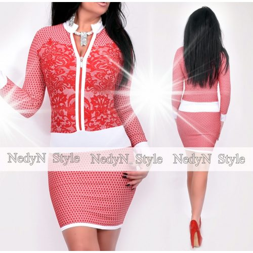 Dámske bielo-červené šaty (Dámske bielo-červené šaty)