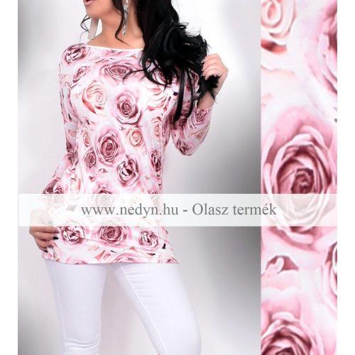 Dámska hodvábna tunika s ružami (Dámska hodvábna tunika s ružami)