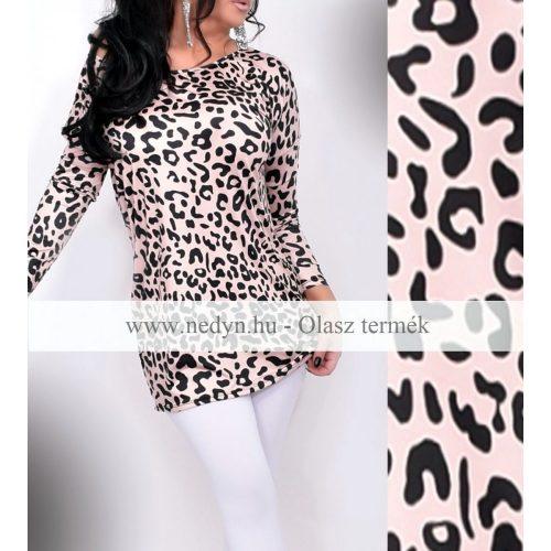 Dámska hodvábna leopardia tunika (Dámska hodvábna leopardia tunika)