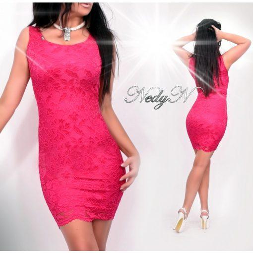 Dámske ružové čipkované šaty (Dámske ružové čipkované šaty)