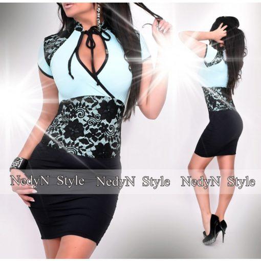 Dámske modro-čierne šaty (Dámske modro-čierne šaty)
