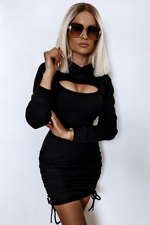 Dámske čierne šaty + bolérko (Dámske čierne šaty + bolérko )