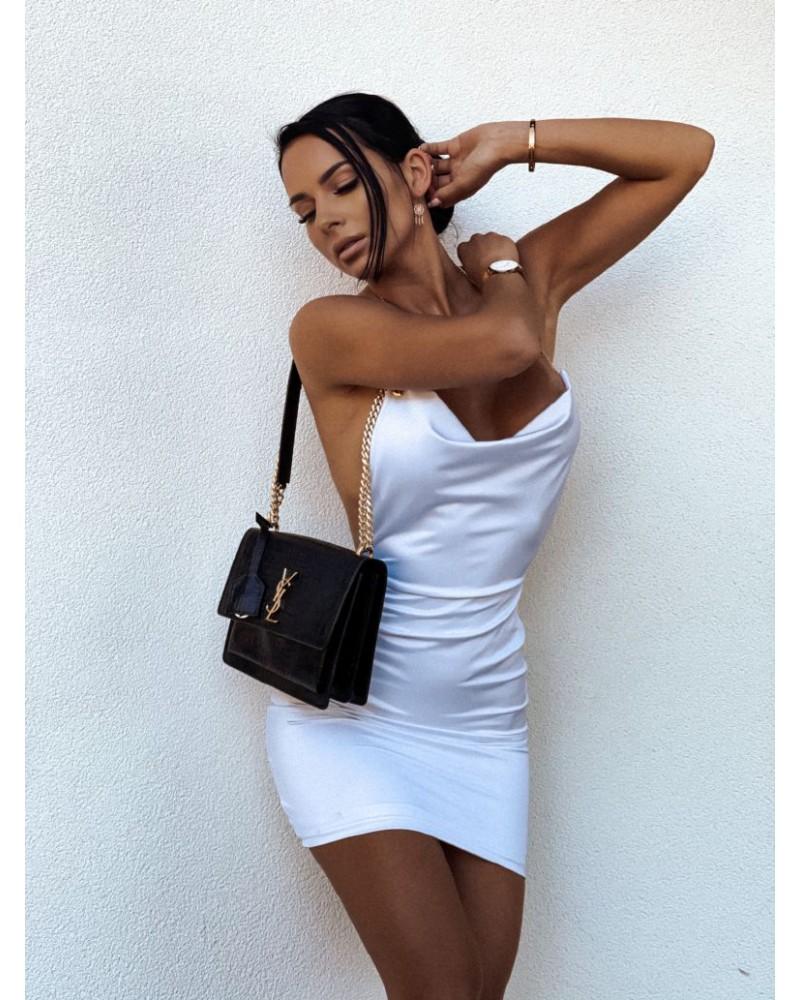 Dámske biele šaty s ramienkami na retiazku (Dámske biele šaty s ramienkami na retiazku)