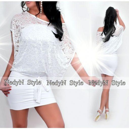Dámske biele čipkované šaty (Dámske biele čipkované šaty)