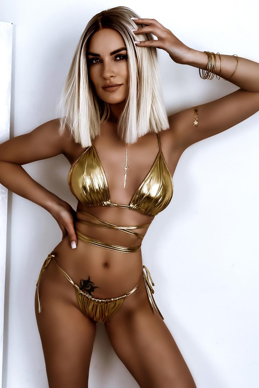 Dámske zlaté sexy bikini (Dámske zlaté sexy bikini)
