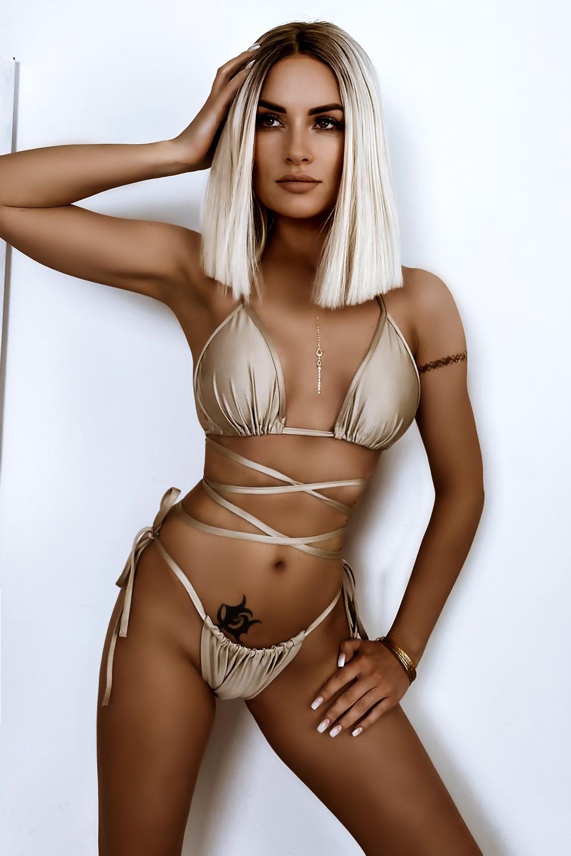 Dámske béžové sexy bikini (Dámske béžové sexy bikini)
