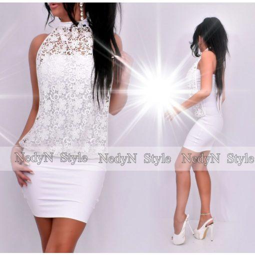 Dámske biele šaty s čípkou (Dámske biele šaty s čípkou)