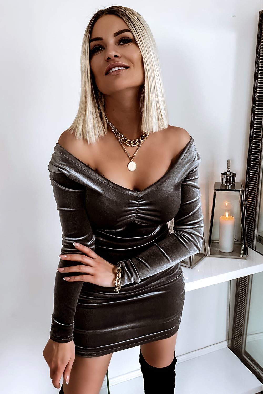 Dámske šedé šaty (Dámske čierne šaty)
