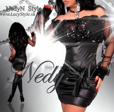 Dámske šaty ,krásne čierne šaty s flitrami-Nedyn