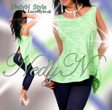 Dámsky top v zelenej farbe- Nedyn