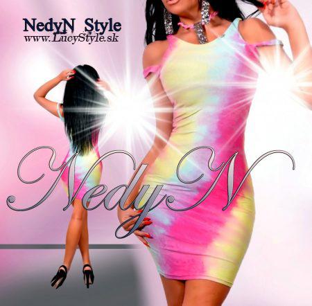 Dámske šaty s otvorenými ramenami,batikované, Nedyn