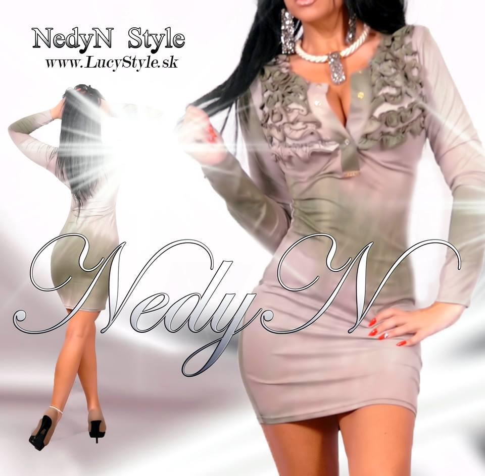 Dámske šaty s narasenim,jesenné šaty-Nedyn