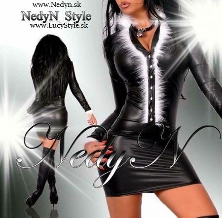 Dámske šaty s kožušinkou-Nedyn