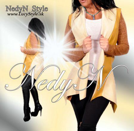 Dámska kožená vesta-Nedyn