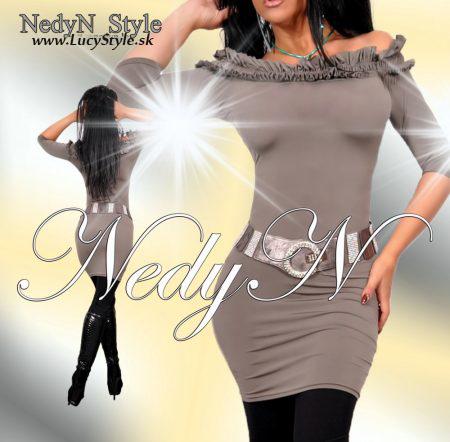 Dámske šaty,jednoduché šaty-Nedyn