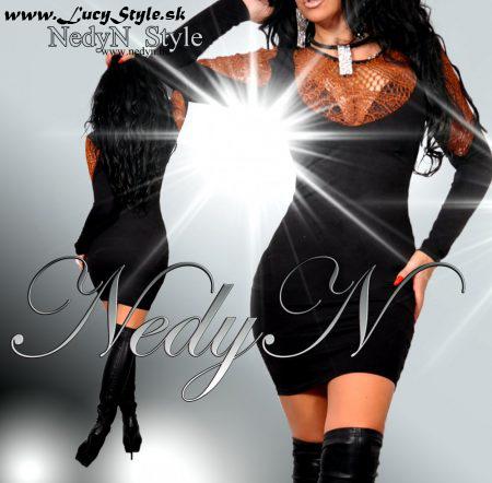 Dámske čierne šaty -nedyn