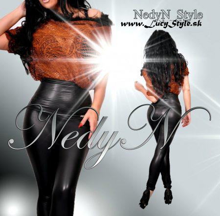 1bf8bcec38a2 Sexy čierne legíny s vysokým pásom-Nedyn