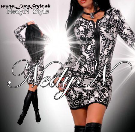 Krásny štýlový dámsky kostým ,vzorovaný (Krásny štýlový dámsky kostým ,vzorovaný)