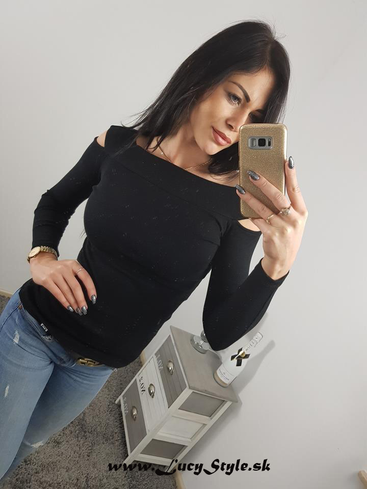 Dámske čierne tričko (Dámske čierne tričko)