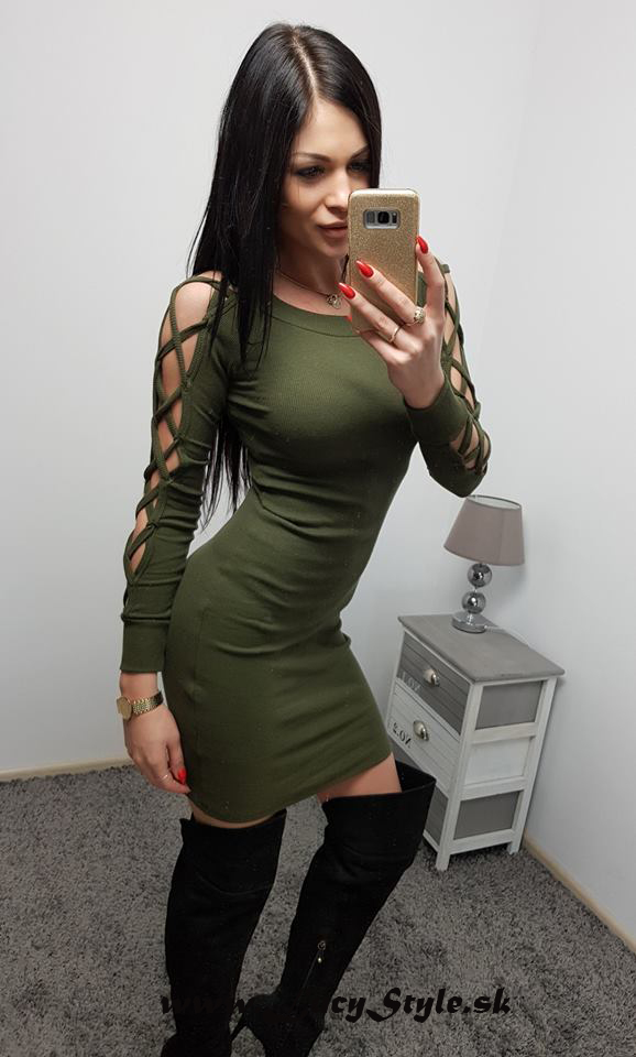 Dámske šaty khaki (Dámske šaty khaki)