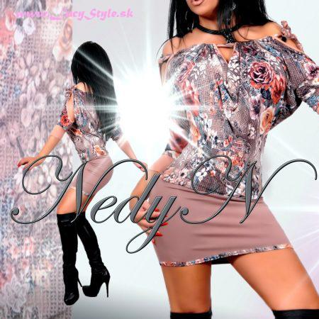 Štýlové dámske šaty vzorované (Štýlové dámske šaty vzorované)