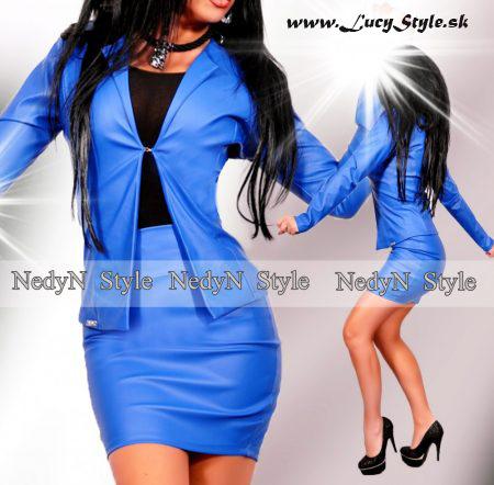 Kráľovský modrý dámsky kostým (Kráľovský modrý dámsky kostým)