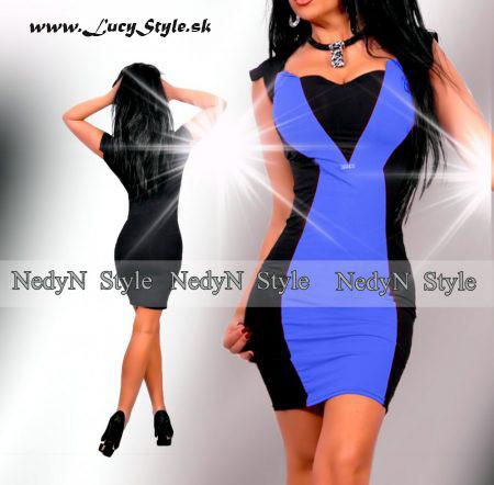 Elegantné dámske čierno modré šaty (Elegantné dámske čierno modré šaty )