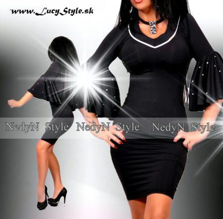Dámske čierne šaty (Elegantné dámske čierne šaty )