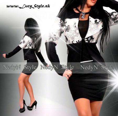 Dámsky kostým v čierno bielej farbe (Dámsky kostým v čierno bielej farbe)