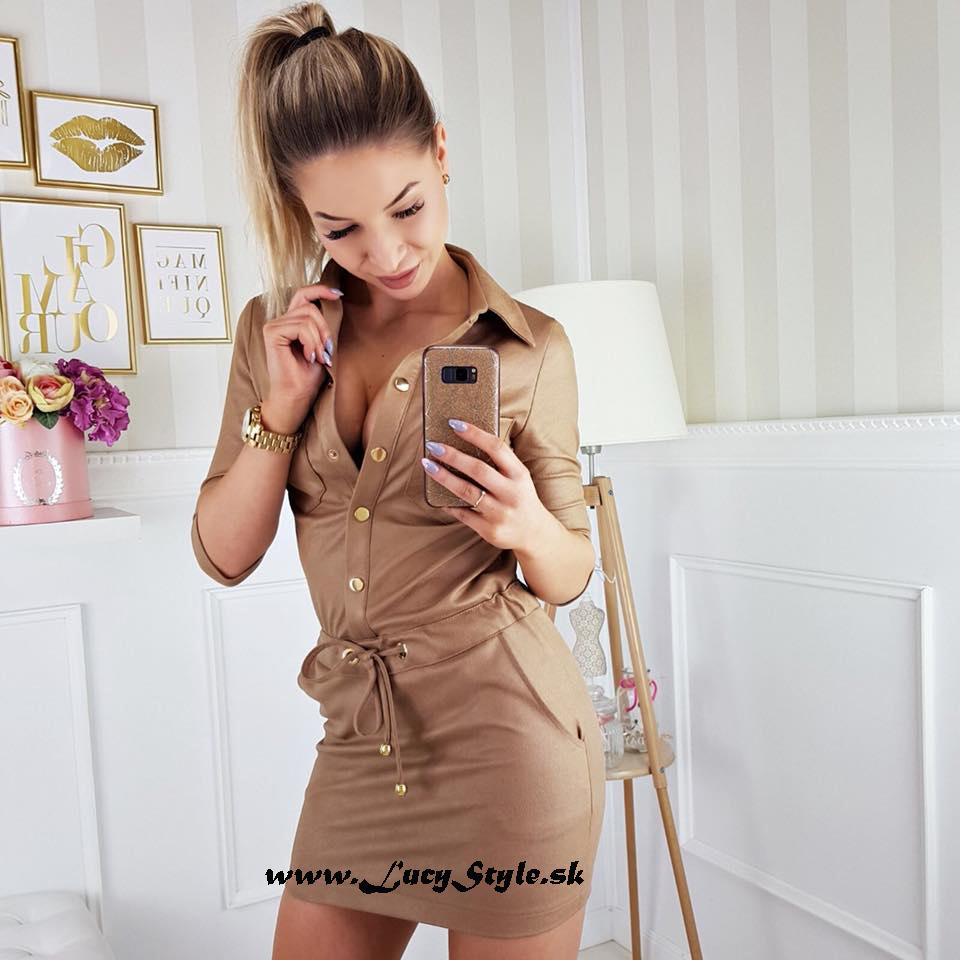 Dámske hnedé šaty (Dámske hnedé šaty )
