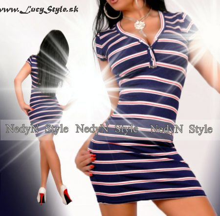 Dámske pásikavé šaty (Dámske pásikavé šaty)