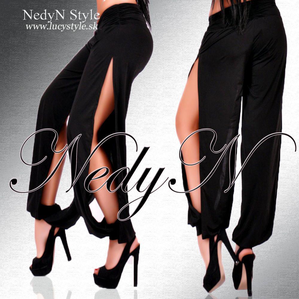 Štýlové dámske nohavice s rozparkama (Štýlové dámske nohavice s rozparkama)
